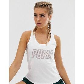 プーマ Puma レディース トップス タンクトップ【logo tank top in white】Puma white