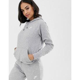 ナイキ Nike レディース トップス パーカー【grey essentials hoodie】Grey heather / white
