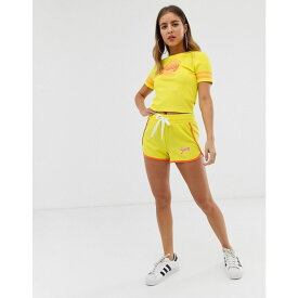 ジューシークチュール Juicy Couture レディース ボトムス・パンツ ショートパンツ【Juicy By Juicy logo runner shorts】Sour lemon