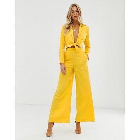 エイソス ASOS DESIGN レディース ボトムス・パンツ【extreme high waist suit trouser】Yellow