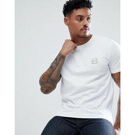 ヒューゴ ボス BOSS メンズ トップス Tシャツ【Tales box logo t-shirt in white】White