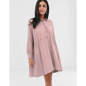 フレンチコネクション French Connection レディース ワンピース・ドレス ワンピース【cord shirt dress】Pink baby cord