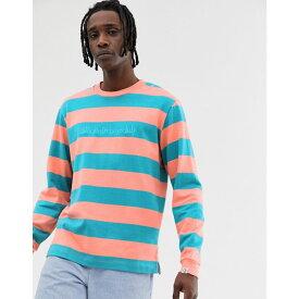 ビリオネアボーイズクラブ Billionaire Boys Club メンズ トップス スウェット・トレーナー【stripe sweater in orange】Coral