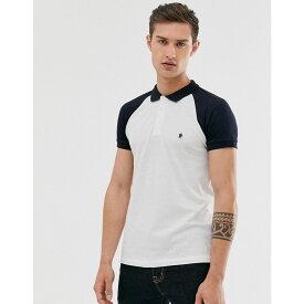 フレンチコネクション French Connection メンズ トップス ポロシャツ【raglan logo polo】White
