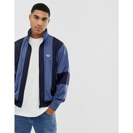アディダス adidas Originals メンズ アウター ジャージ【track jacket with stripes in navy】Navy