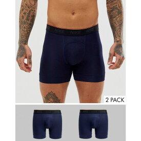 ナイキ Nike Training メンズ インナー・下着 ボクサーパンツ【boxer trunks 2 pack in navy】Navy
