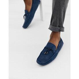 ヴェルサーチ Versace Jeans メンズ シューズ・靴 ドライビングシューズ【driving shoes in blue】Blue