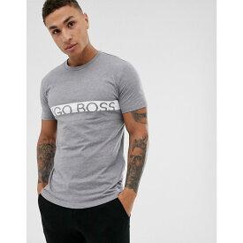 ヒューゴ ボス BOSS メンズ トップス Tシャツ【bodywear slim fit Identity logo t-shirt in grey】Grey