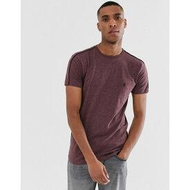 フレンチコネクション French Connection メンズ トップス Tシャツ【side piping T-Shirt】Red