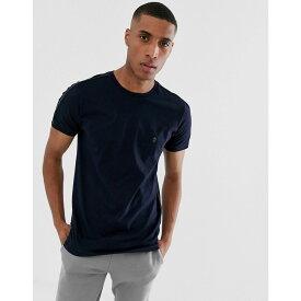 フレンチコネクション French Connection メンズ トップス Tシャツ【side piping T-Shirt】Blue