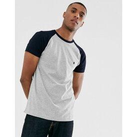 フレンチコネクション French Connection メンズ トップス Tシャツ【raglan contrast T-Shirt】Grey