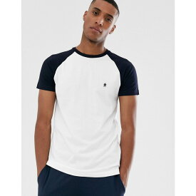 フレンチコネクション French Connection メンズ トップス Tシャツ【raglan contrast T-Shirt】White