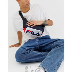 フィラ Fila メンズ バッグ ボディバッグ・ウエストポーチ【Bissy colour block cross body bag in navy】Navy