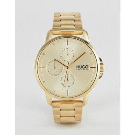 ヒューゴ ボス HUGO メンズ 腕時計【1530026 Focus bracelet strap watch in gold】Gold