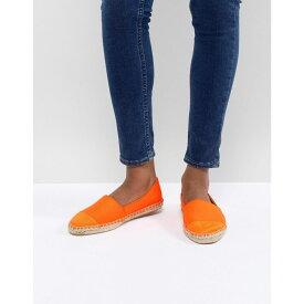 エイソス ASOS DESIGN レディース シューズ・靴 エスパドリーユ【Jaslynn Espadrilles】Orange satin