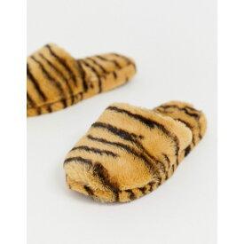 エイソス ASOS DESIGN レディース シューズ・靴 スリッパ【Zingy fur slippers in tiger】Tiger