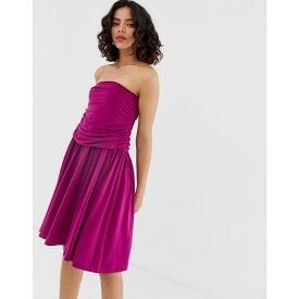 ウェアハウス Warehouse レディース スカート ひざ丈スカート【Ruched Midi Skirt】Purple