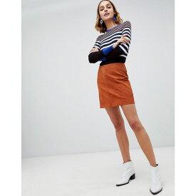 ウェアハウス Warehouse レディース スカート【suede pelmet skirt in tan】Tan
