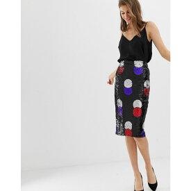 ウェアハウス Warehouse レディース スカート【spot sequin skirt in black】Multi