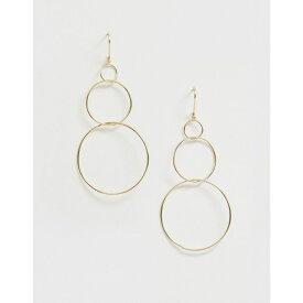 フレンチコネクション French Connection レディース ジュエリー・アクセサリー イヤリング・ピアス【interlinked hoop earrings】Gold