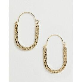 フレンチコネクション French Connection レディース ジュエリー・アクセサリー イヤリング・ピアス【hammered metal hoop earrings】Gold