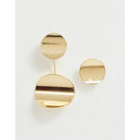 フレンチコネクション French Connection レディース ジュエリー・アクセサリー イヤリング・ピアス【metal plate drop earrings with stud set】Gold