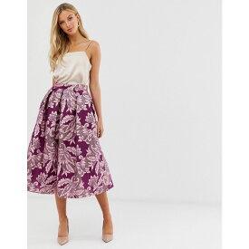 クローゼットロンドン Closet London レディース スカート ひざ丈スカート【Closet full a line midi skirt】Purple