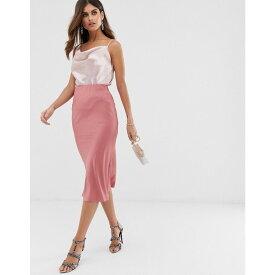ウェアハウス Warehouse レディース スカート ひざ丈スカート【bias cut midi skirt in pink】Pink