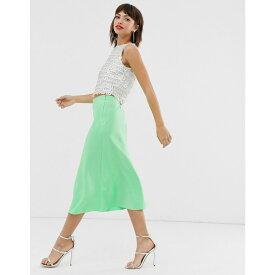 ウェアハウス Warehouse レディース スカート ひざ丈スカート【bias cut midi skirt in apple green】Green