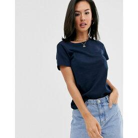 エイソス ASOS DESIGN レディース トップス Tシャツ【organic cotton crew neck t-shirt in navy】Navy