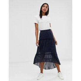 ミニマム Minimum レディース スカート ロング・マキシ丈スカート【layered maxi skirt】Navy