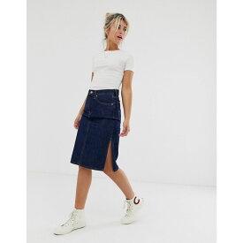 リーバイス Levi's レディース スカート ひざ丈スカート【denim midi skirt with side split】Juniper ridge