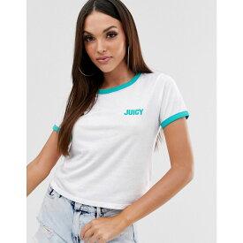 ジューシークチュール Juicy Couture レディース トップス Tシャツ【Juicy by ringer logo t-shirt】White