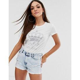 ジューシークチュール Juicy Couture レディース トップス Tシャツ【Black Label crown logo t-shirt】White