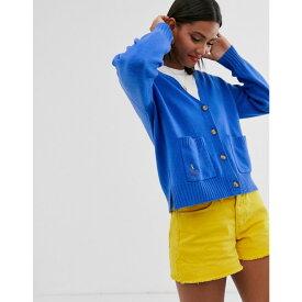 ラルフ ローレン Polo Ralph Lauren レディース トップス カーディガン【oversized wool cardigan with logo】Blue