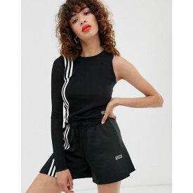 アディダス adidas Originals レディース トップス【TLRD three stripe asymetric top in black】Black