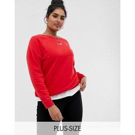 リーバイス Levi's Plus レディース トップス スウェット・トレーナー【relaxed crew neck sweatshirt with baby logo】Brilliant red