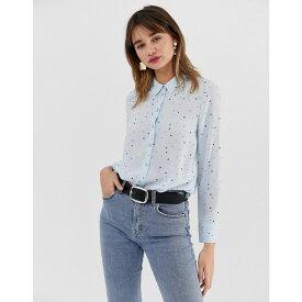 ウェアハウス Warehouse レディース トップス ブラウス・シャツ【shirt in blue star print】Light blue