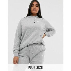 ナイキ Nike レディース トップス パーカー【plus grey essentials hoodie】Dk grey heather/(whi
