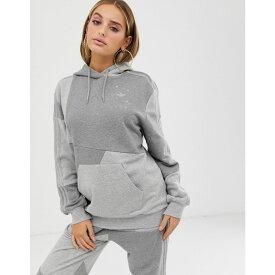 アディダス adidas Originals レディース トップス パーカー【x Danielle Cathari deconstructed hoodie in grey】Grey heather
