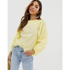 ウェアハウス Warehouse レディース トップス ブラウス・シャツ【top with puff sleeves in yellow】Yellow