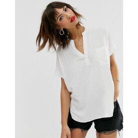 ウェアハウス Warehouse レディース トップス ブラウス・シャツ【blouse with pocket in white】Ivory