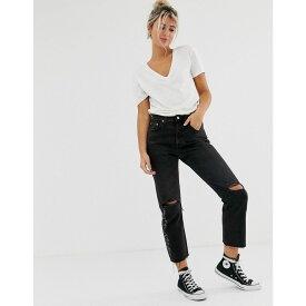 リーバイス Levi's レディース ボトムス・パンツ ジーンズ・デニム【501 crop jeans with knee rip】Black canyon