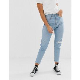 リーバイス Levi's レディース ボトムス・パンツ ジーンズ・デニム【mom jeans with knee rip】Arctic waves