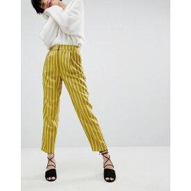 ウェアハウス Warehouse レディース ボトムス・パンツ【Stripe Tapered Trousers】Chartreuse