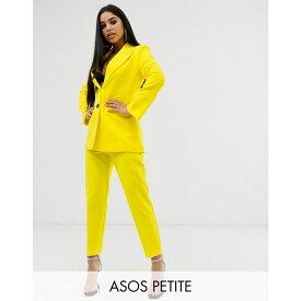 エイソス ASOS Petite レディース ボトムス・パンツ スキニー・スリム【ASOS DESIGN Petite slim suit trousers】Yellow