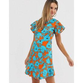 クローゼットロンドン Closet London レディース ワンピース・ドレス ワンピース【Closet frill sleeve & hem dress】Orange