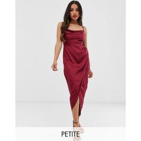 フォーエバーニュー Forever New Petite レディース ワンピース・ドレス ワンピース【cowl neck midi dress in wine red】Wine red