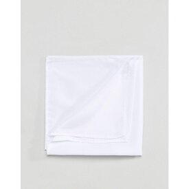 エイソス ASOS DESIGN メンズ ハンカチ・チーフ【pocket square in white】White