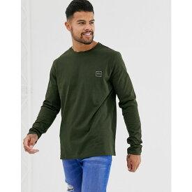 ヒューゴ ボス BOSS メンズ トップス 長袖Tシャツ【Tacks small logo long sleeve t-shirt in khaki】Khaki